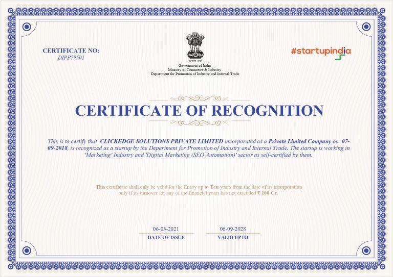 Startup India ClickEdge